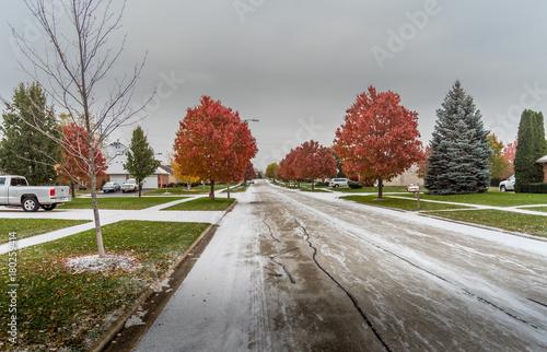 Aluminium Chicago First snow of winter