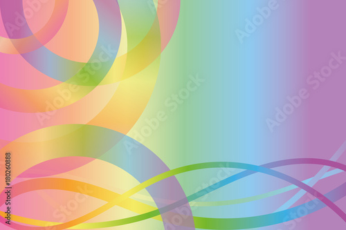 Foto op Plexiglas Abstract wave background in rainbow colors with lines and semicircles