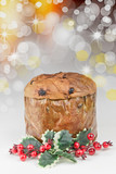 Panettone - Traditional Italian Christmas cake isolated - 180271633