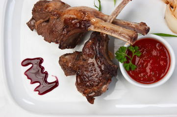 dishes of roast meat