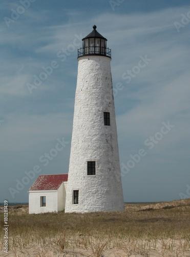 Fotobehang Vuurtoren Great Point Light Nantucket Island