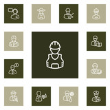 Set Of 13 Job Outline Icons Set.Collection Of Doctor, Banker, Worker And Other Elements. - 180286065