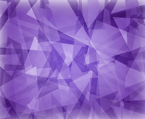 abstract purple background design with white floating triangles in layers, classy elegant website template, modern graphic art