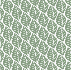 Trendy Tropical Leaves Vector Seamless Pattern. Floral organic background.