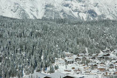 Fotobehang Grijs Winter mountains. Tyrol, Austria
