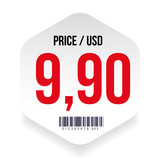 Price tag with barcode - 180291464