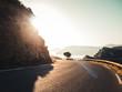 Winding Serpentine Road in beautiful scenic landscape