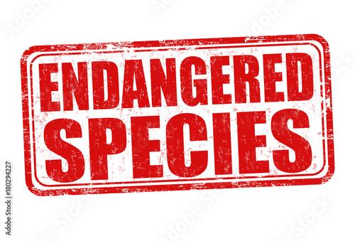 Endangered species grunge rubber stamp