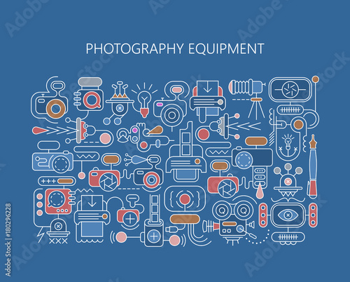 Papiers peints Art abstrait Photography equipment vector banner template