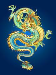 golden shimmering dragon