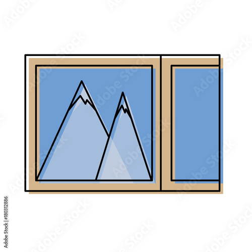 Foto op Canvas Wit picture icon over white background vector illustration