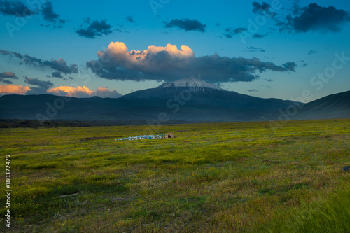 Deurstickers Groen blauw Ararat Mountain - Turkey