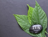 stone with the inscription Zen - a symbol of peace and balance - 180332212