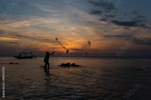 Papiers peints Bali fisherman - bali