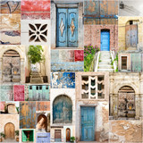 Archaic colorful beautiful gates / collage of entry doors :) - 180332680