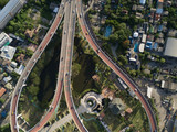 Bangkok roads from above
