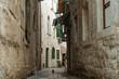 Narrow streets of old european city.