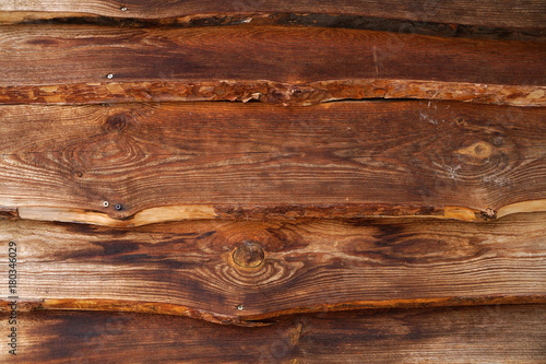 Wooden facing surface from boards