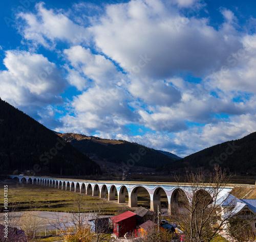arch bridge in the Romanian Carpathians, Romania