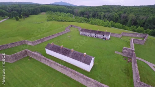 Aerial view of Fort Frederick State Park on the Potomac River in western Maryland.
