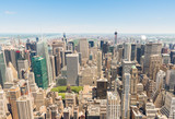 Panoramic view of lower Manhattan from the Empire State Building - 180353420