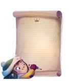niña escribiendo carta en navidad - 180354660