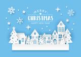 Winter town landscape - 180356248