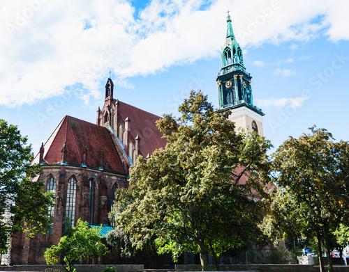Foto op Plexiglas Berlijn St. Mary's Church (Marienkirche) in Berlin city