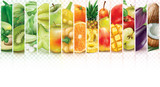 Colorful stripes with fruits and vegetables