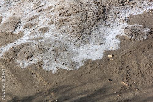 Fotobehang Donkergrijs trace de sel