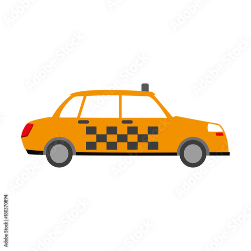 Taxi cab vehicle icon vector illustration graphic design