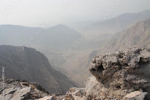 Fotobehang Bleke violet Mountain Peak