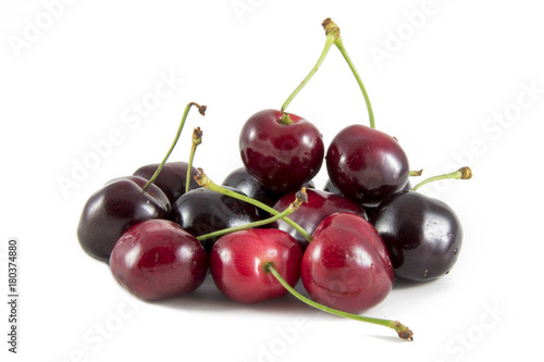 Aluminium Kersen cherries isolated on white background