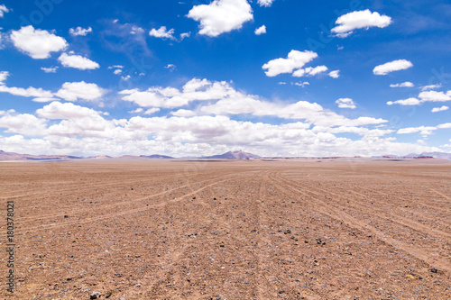 Foto op Canvas Zalm Empty Landscape of Atacama, Chile