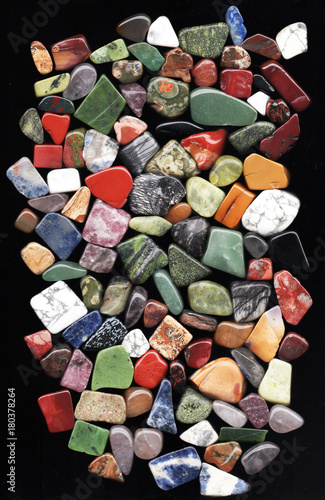 Fotobehang Stenen various polished natural mineral stones and gemstones