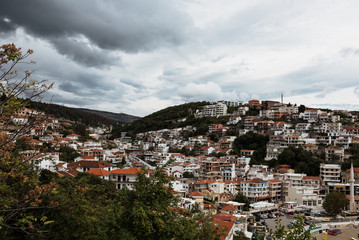 A view of the city of Ulcinj in Montenegro in the fall