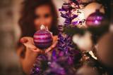 Violet Christmas Decoration - 180378620