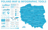 Poland Map - Info Graphic Vector Illustration - 180387620