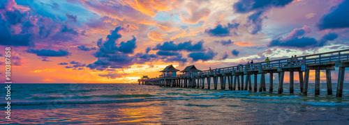 Molo na morzu na Florydzie