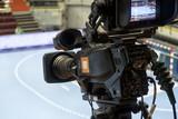 TV camera for broadcast Handball. - 180391033