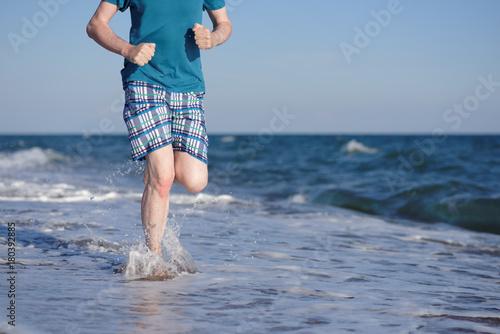 Fotobehang Hardlopen Jogging on a beach