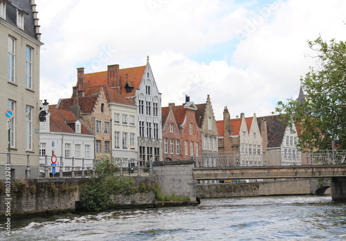 Fotobehang Brugge Canal of Bruges