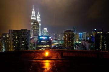 Petronas Towers Kuala Lumpur Malaysia Panorama City from Helipad