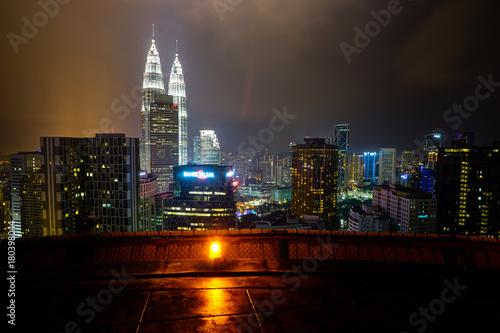 Fotobehang Kuala Lumpur Petronas Towers Kuala Lumpur Malaysia Panorama City from Helipad