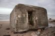 Ruins of a second World War bunker on a beach in Hirtshals, Denmark.