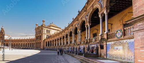Seville, Spain. monumental and famous Spanish Square (Plaza de España) in Seville (Sevilla) Spain