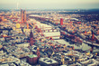 Aerial view over Frankfurt am Main at winter