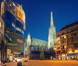 St. Stephan cathedral and christmas tree, Vienna - 180404049
