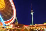 Christmas market on Alexanderplatz in Berlin, Germany - 180404098