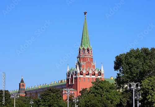 Fotobehang Moskou Ancient tower of Moscow Kremlin